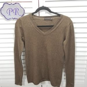 The Limited Cotton Cashmere Blend V Neck Sweater
